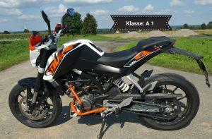 KTM Duke 125 mit ABS (Klasse A 1)
