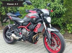 Yamaha MT07 (Moto Cage) mit ABS (Klasse A 2)