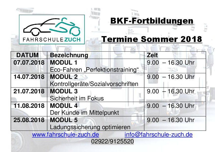 Berufskraftfahrer-Seminare (BKF)