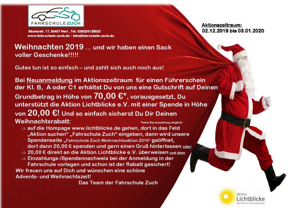 Weihnachtsaktion 2019 – Wir unterstützen Aktion Lichtblicke e.V.